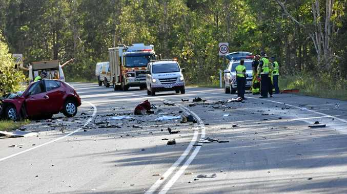 TRAGEDY: A crash on Walter Hay Dr has claimed the life of a woman and seriously injured a truck driver.