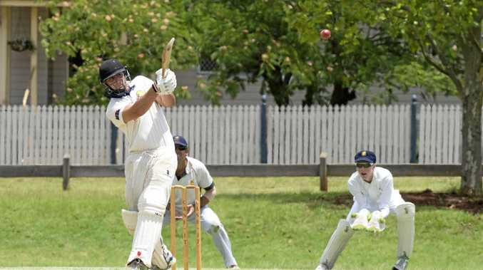 LEADING BY EXAMPLE: Chris Hall bats for NBD. Cricket TCI two day round one, Northern Brothers Diggers vs Metropolitan Easts. Saturday Jan 7, 2017.