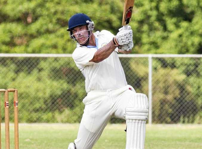 KEY PLAYER: Brian May bats for Wests in the TCI T20 against Highfields-Railways.