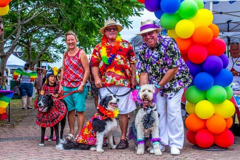 PROUD POOCHES: The Pride Paw Parade at Eumundi is one of the Sunshine Coast Pride Festival's most colourful events.