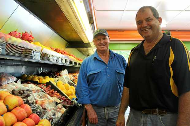Mark Watson (left) has taken over Hal's Fruit World from Denis Vella, who has run it for almost 31 years.