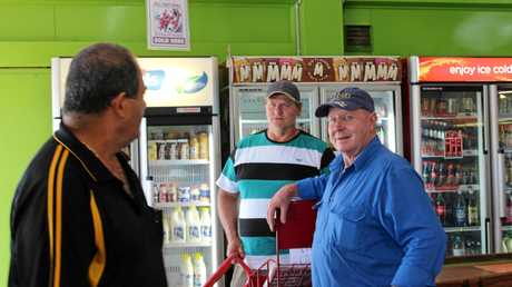 Denis Vella (left) is introducing Mark Watson (right) to his regular customers and supplies including Dale Fortescue, of Eungella Dale.