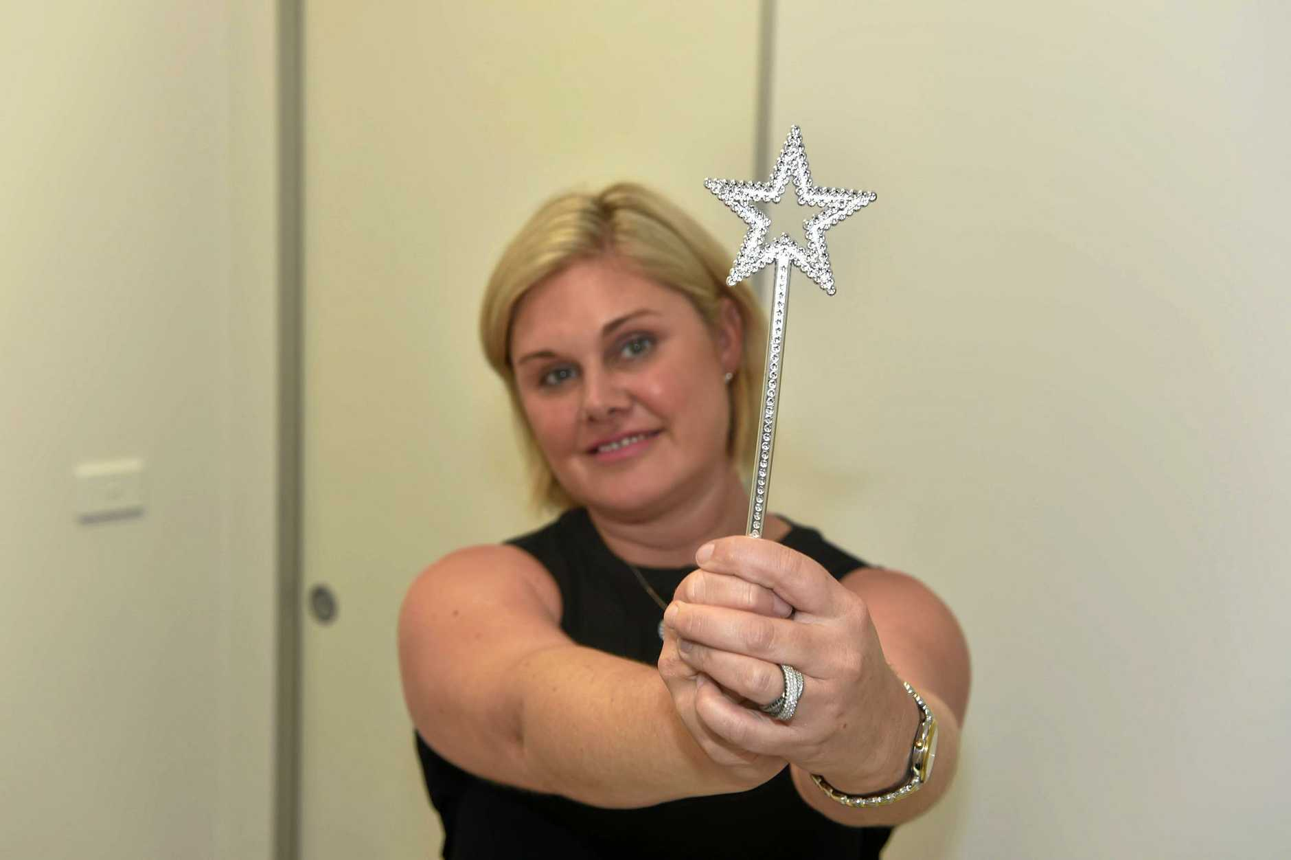 Natalie Holzgrefe with a wand, not the wand, has brought to ThermiVa and ThermiSmooth procedures to the Sunshine Coast.