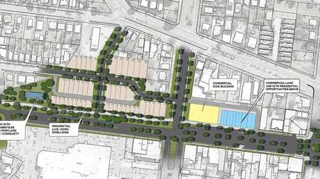 Aerial view of the revitalised site, as detailed in the concept plans
