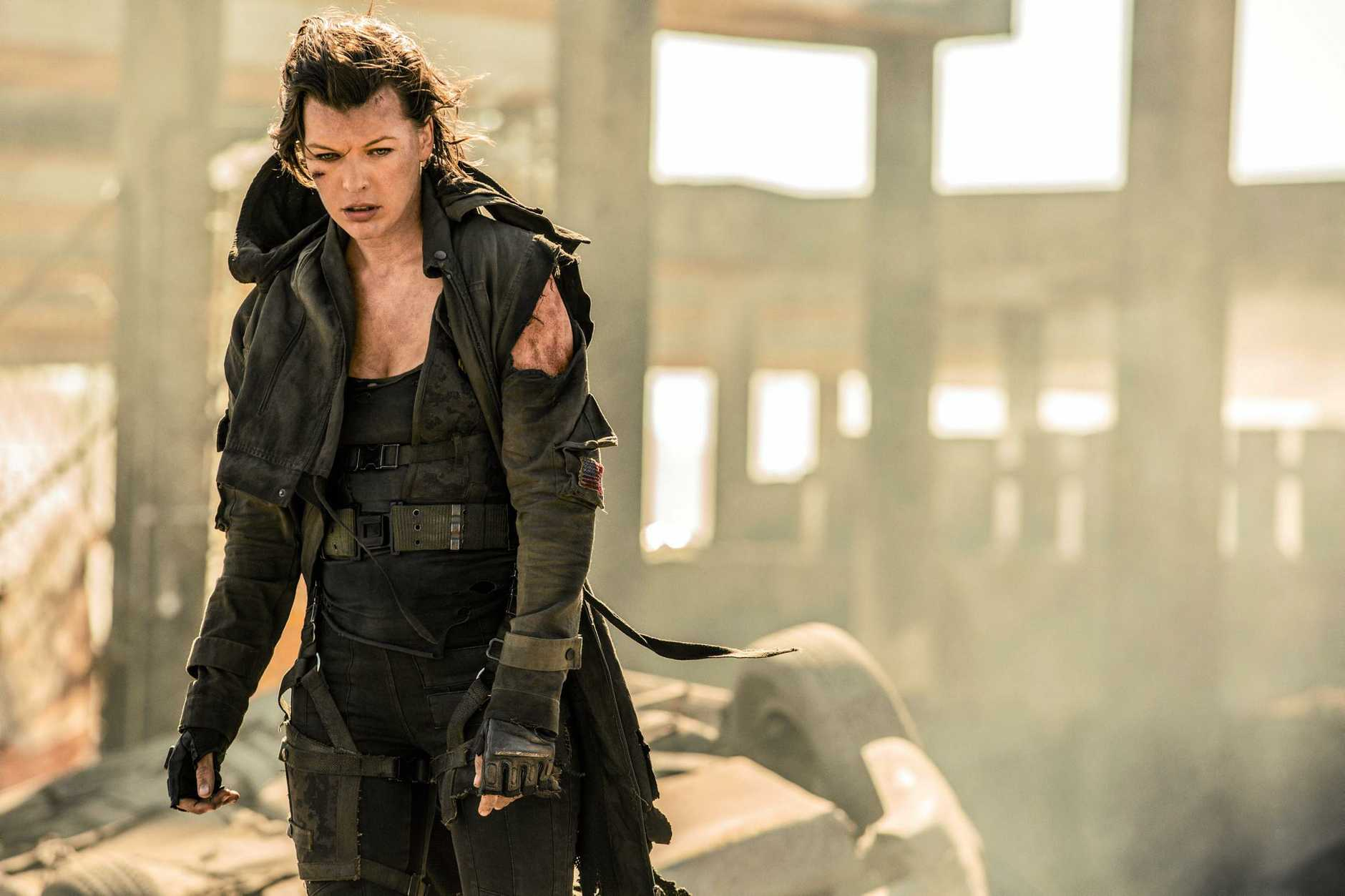 Milla Jovovich in a scene from the movie Resident Evil: The Final Chapter.