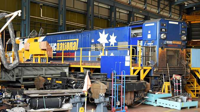 State Development Minister Anthony Lynham praised Maryborough's Downer Rail.