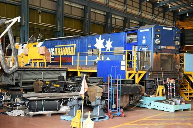 State Development Minister Anthony Lynham praised Maryborough's Downer Rail.
