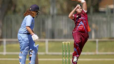Rockhampton's Tamika Hansen in action during the grand final against New South Wales.