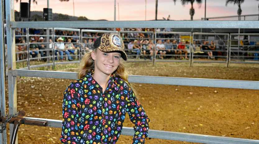 FEARLESS: Riding with the boys in the under 15 Steers was Calvert's Montana Long.