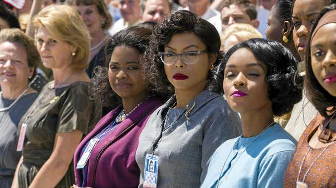 NASA HEROES: Octavia Spencer, Taraji P. Henson and Janelle Monáe in a scene from the movie Hidden Figures.