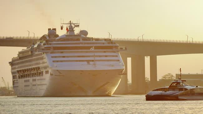 The Sun Princess docked in Brisbane on Thursday