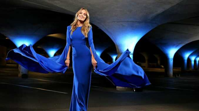 Model Jennifer Hawkins ahead of the Myer Autumn launch in Melbourne.