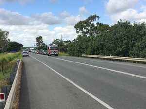 Crash on the Bruce Hwy at Bakers Creek