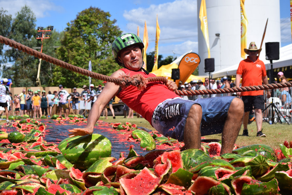 Melon Skiing is always a big hit at the Chinchilla Melon Festival.