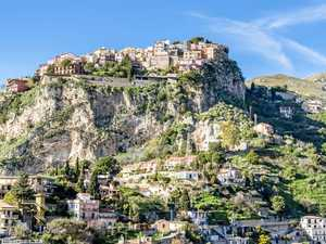 Castelmola, close to Taormina, is worth the climb just to see the sights at Bar Turrisi.