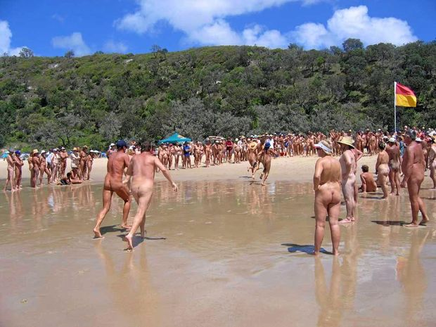 NUDE SHOCK: The Alexandria Bay nude beach carnival is being shifted south of the border.