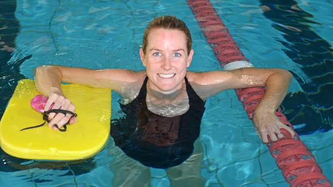 Bec Rogers is swimming at WIRAC during her pregnancy