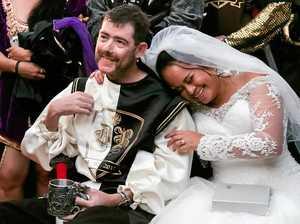 Medieval mayhem makes wedding dream come true