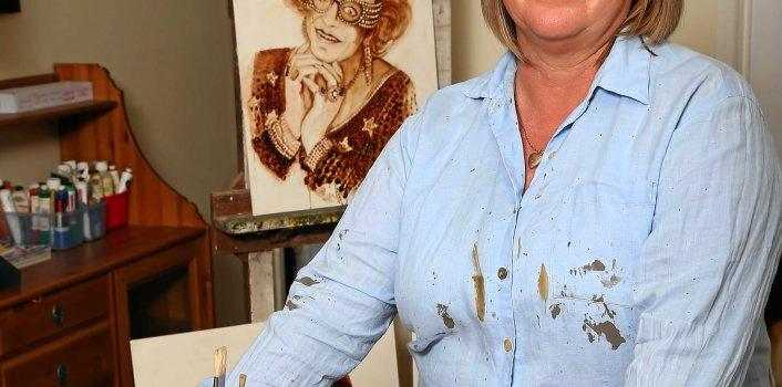 VEGE BONAZA: Beerwah woman Julie Gould said art was something which came easy to her.
