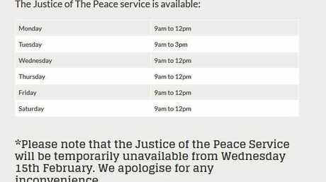 The Mt Pleasant Shopping Centre website currently shows operating hours for JPs as six days a week.