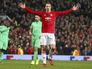 Ibrahimovic hat-trick puts United in box seat