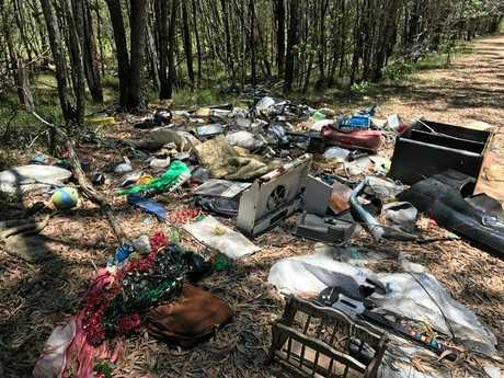 Examples of illegal dumping in the Clarence Valley provided by Clarence Valley Council.