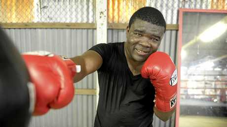 Former dual-Commonwealth champion James 'Bukom Fire' Armah is coaching at the Grafton Amateur Boxing Club at the Grafton Showground.Photo Matthew Elkerton / Daily Examiner