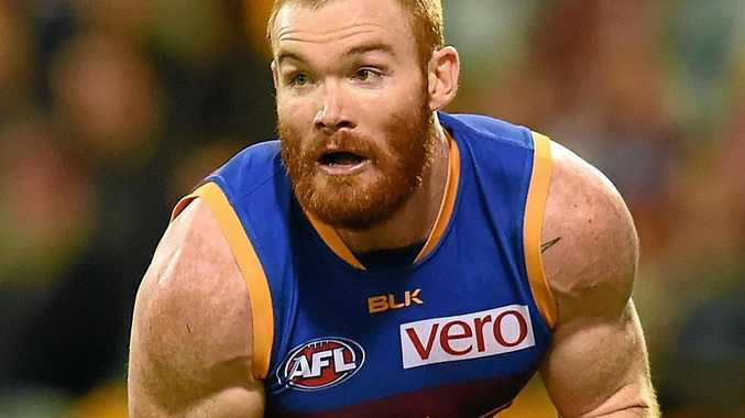 Daniel Merrett of the Brisbane Lions during their round 22 game last year.