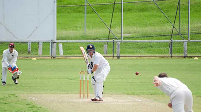 MUST WIN: Gympie Gold XI batsman Lewis Waugh in action.