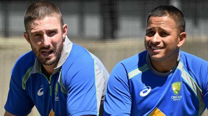 Australian cricketers Shaun Marsh (left) and Usman Khawaja.