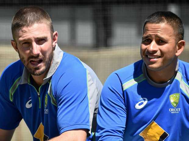 Australian cricketers Shaun Marsh (left) and Usman Khawaja.