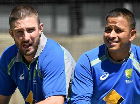 Shaun Marsh (left) and Usman Khawaja are among Australia's top batting hopes. (AAP Image/Julian Smith)