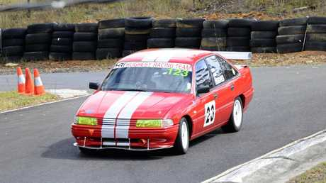 Karl Hughes in his 1992 Holden Commodore was competing in the first round of the Grafton Sporting Car Club Hillclimb Championships at the Mountainview race track on Sunday. Photo Debrah Novak / The Daily Examiner