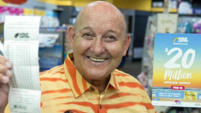 Dudley Schefe is in with a chance to win after purchasing a ticket in the $20 million Superdraw Saturday at The Lucky Charm Toowoomba at Toowoomba Plaza, Friday, February 17, 2017.