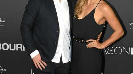 Sally Fitzgibbons and Trent Merrin at the Australian premiere of Jason Bourne last year.