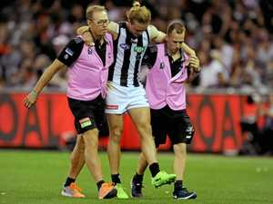 Pies defender suffers injury setback