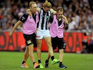 Pies defender suffers injury setback