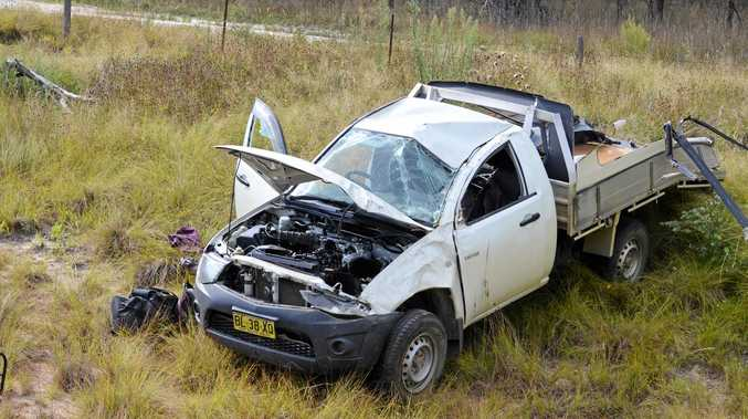 A man is in a stable condition after a single vehicle roll over on the New England Highway.