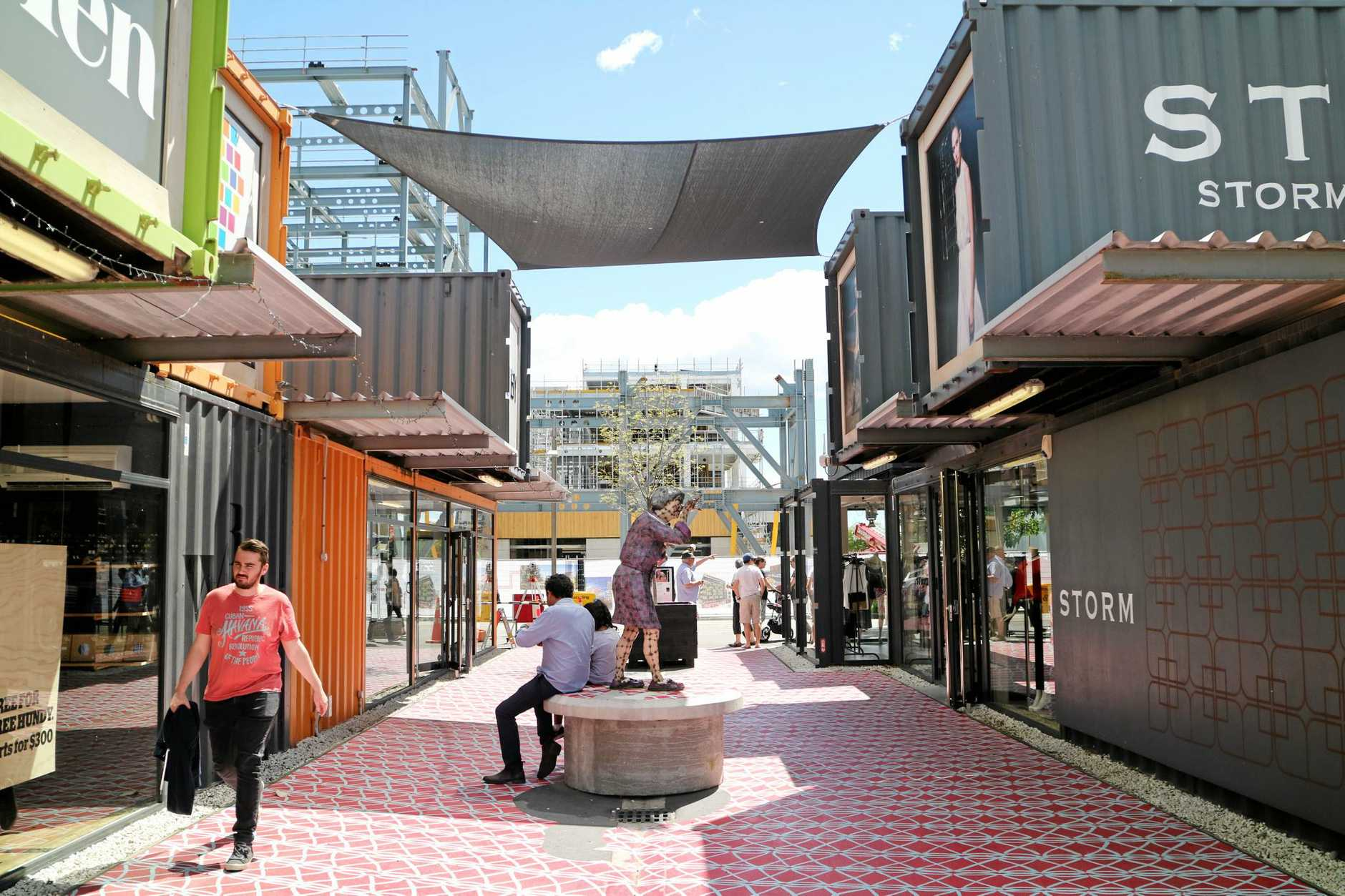The Christchurch Re:Start Mall, in the central business district.