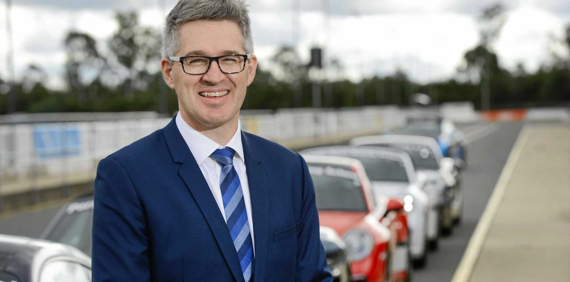 GONE: General manager of the Ipswich Motorsport Precinct Damien White has left his post at Willowbank.