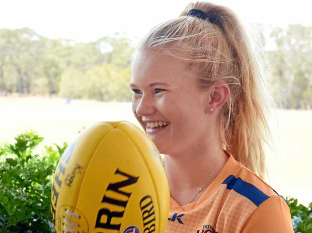 OPPORTUNITY: Taylah King will play a curtain-closer to Brisbane Lions' AFLW clash against Collingwood today.