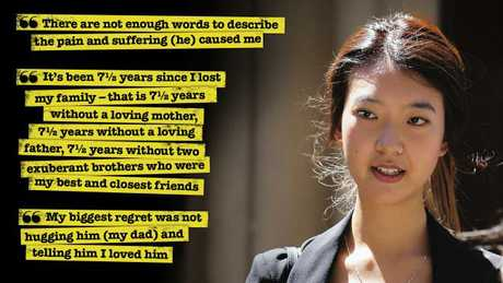 Brenda Lim's victim impact statement having lost her entire family in the murderous attack by Robert Xie
