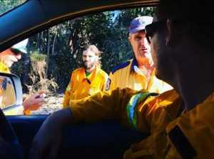Fire fighters at Broken Head fire 2