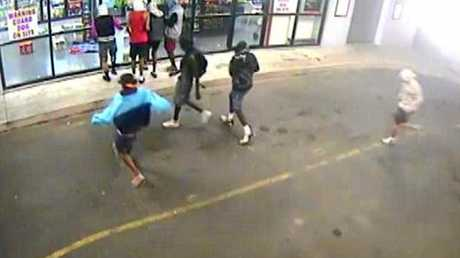Video still from CCTV footage of a group of youths breaking into the Post Office Hotel in 2012. These types of offences are still common in Rockhampton. File photo