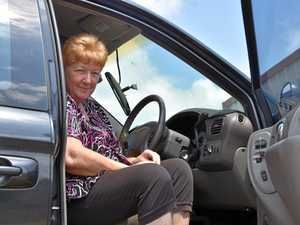 HEART OF GOLD: Retiree Sandra Smith makes countless trips a day in a sedan because she has five grandchildren to look after and can't afford to repair her seven-seater vehicle.