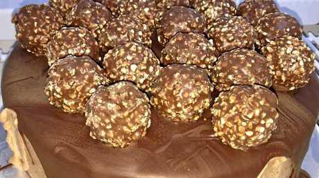 The Laboratory Dessert Bar's Ferrero Rocher gelato cake.