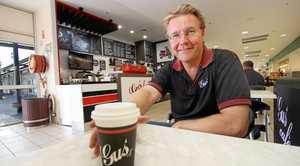 Gus Korda at Gus' Coffee at Northside Plaza.   Photo: Chris Ison / The Morning Bulletin