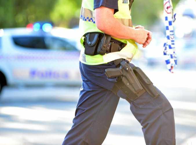 FILE PHOTO: Police at a crime scene.