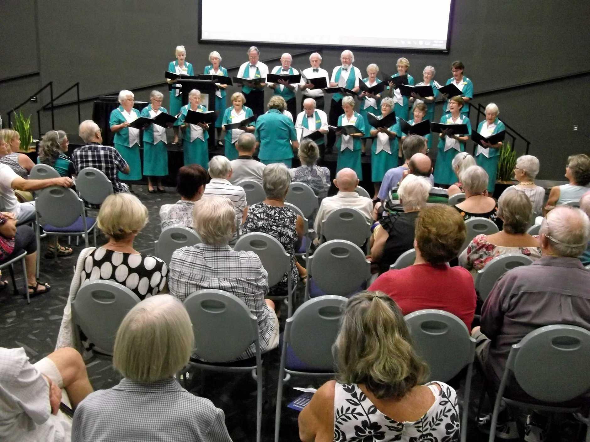 The U3A choir entertains.
