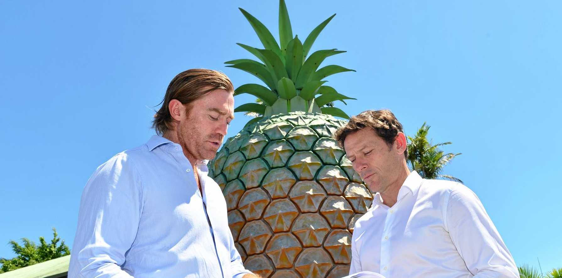 Jim Costello, Project Director and Shaun Munday, Planning Director discuss future plans for the Big Pineapple.